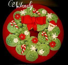 Christmas and new year cupcake