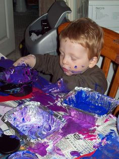 If you want to nurture a great artist you will need a good supply of wipes!