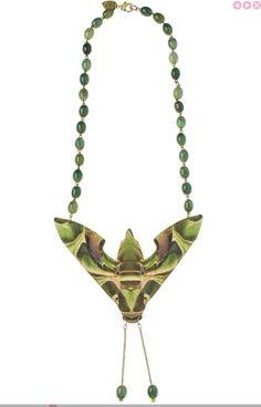 Hawk moth necklace