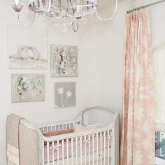 French Nursery with Pink Curtains