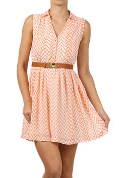 Chiffon Peach Dress ~ would definitely have to be longer!