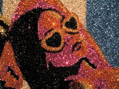 is a modern artist who recently opened a show at SF Gallery ProjectOne. He has created many iconic works in glitter (like this one) but his latest offering is in colored sand. Glitter Kunst, Glitter Wall Art, Colored Sand, Ap Art, Modern Artists, Great Pictures, Creative Art, Amazing Art, Art Photography