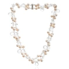 Avery Row Pearls Double Strand White Pearl & Crystal Necklace   ACHICA