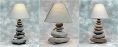 Superior Light Source original lamps crafted from Lake Superior stone