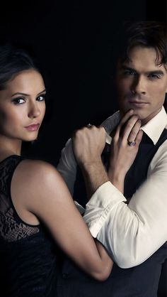 Elena Gilbert and Damon Salvatore - The Vampire Diaries