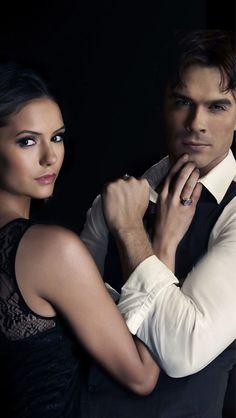 Elena Gilbert and Damon Salvatore - The Vampire Diaries