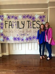 Love this Parents' Weekend banner!