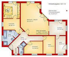 Bildergebnis für grundrisse winkelbungalow 100 qm | Architectural ...