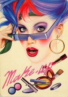 80s Makeup - Advertising - Illustration