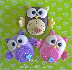 so cute.  Love the owl clay design DIY
