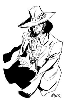 Lupin The Third, Rene Gruau, Cowboy Bebop, Post Apocalypse, Drawing Poses, Drawing People, Dungeons And Dragons, My Drawings, Anime Characters