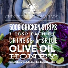 Chinese Chicken Wraps!