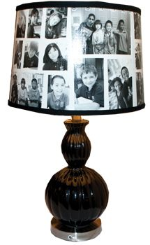 Photo lamp transfers... Would be a cute gift for grandparents