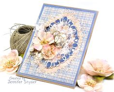 Scrap Escape - card with a  delicate look created using a  Spellbinders die (Nestabilities Classic Label #33 Decorative Elements Die)