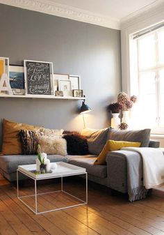 51 living room interior ideas -grey scheme