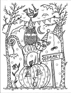 Halloween Printable Coloring Pages - Halloween Printable Coloring Pages , Printable Halloween Coloring Books Happiness is Homemade Fall Coloring Pages, Halloween Coloring Pages, Printable Coloring Pages, Adult Coloring Pages, Free Coloring, Coloring Pages For Kids, Coloring Books, Kids Coloring, Retro Halloween