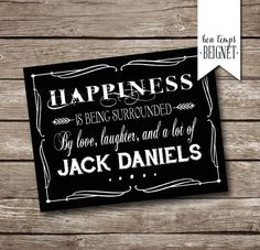 "Jack #Daniels Party #Thank You Card - Printable - INSTANT DOWNLOAD - 7 x #5"", View more on the LINK: http://www.zeppy.io/product/gb/3/244677158/"