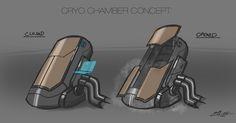 futuristic cryo chamber - Google Search