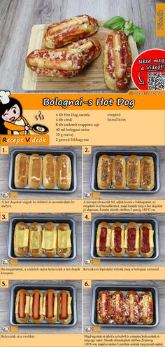 Hot Dog Recipes, No Salt Recipes, Tasty, Yummy Food, Coke, Hot Dogs, Sausage, Food Porn, Food And Drink