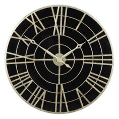 "Geneva Wall Clock from Z Gallerie  $159.95  SKU#188985586AvailabilityIn Stock Dimensions32''H x 32"" Diameter Oversize Charge $9.95"