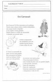 Coisas que gosto de partilhar: Era Carnaval