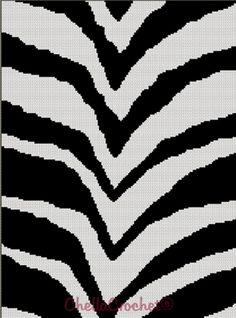 Zebra Animal Print Stripes Afghan Crochet Pattern Graph | eBay