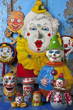 Clown toys Photograph by Garry Gay - Clown toys Fine Art Prints and Posters for Sale