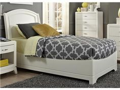 Shop for Liberty Furniture Twin Platform Headboard, 205-BR09H, and other Bedroom Beds at Blockers Furniture in Ocala, FL. Contemporary elements with Clean Lines and soft shapes. Shaped bow fronts with step tops on the cases give this group an edgy look.