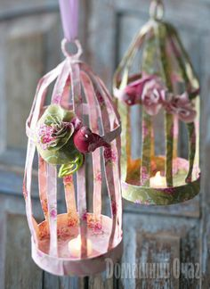 How to make a Tilda-style fabric bird cage