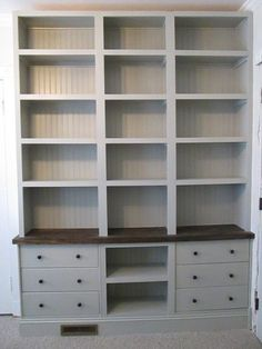Can you believe it's IKEA? Built-in Bookshelves with RAST drawer base – IKEA… Can you believe it's IKEA? Built-in Bookshelves with RAST drawer base –. Ikea Hacks, Diy Hacks, Bookshelves Built In, Billy Bookcases, Built Ins, Bookcase With Drawers, Dresser Shelves, Built In Dresser, Closet Shelves