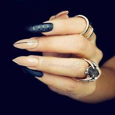 Stiletto nails  are proper for this month, don't you think?   #auroramakeup #selfie #Nails