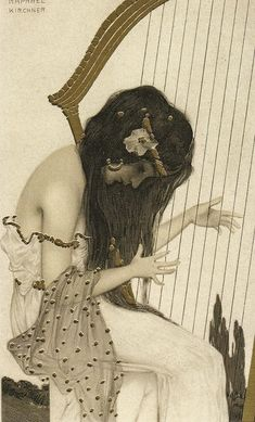Raphael Kirchner (1876-1917, Austria; art nouveau) | A Greek Vergin