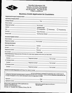 business credit application form pdf