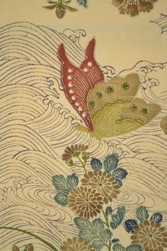 Vintage Silk Kimono Fabric Butterfly / by Orientalvintage88, £18.50