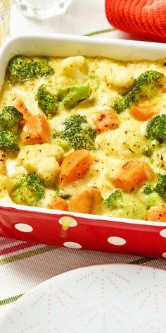 Dieses Rezept hat Potenzial für ein neues Lieblingsgericht. Süßkartoffelgratin grün-weiß. Brokkoli, Blumenkohl und Süßkartoffeln lassen sich einfach klasse kombinieren. Überzeuge dich selbst.