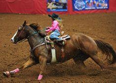 Little cowgirl barrel racing