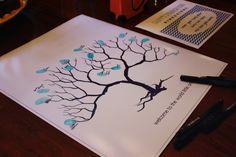 Baby Shower Fingerprint Tree