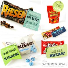 AWESOME Father's Day Gift Ideas for SOON TO BE Dads!! My favorite part is these candy love notes.