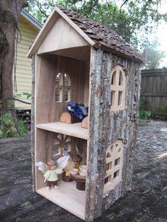 DIY Woodsy CD Tower Dollhouse