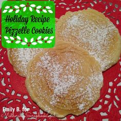 Holiday Recipe:  Pizzelle Cookies by Mothership Scrapbook Gal