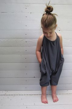 Loose and comfy jersey jumpsuit. Can be easily made from old T-shirts or stretchy soft fabrics.