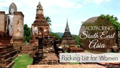 Planning a trip backpacking Southeast Asia? Travel Fashion Girl shows you what to pack and when to pack it. Find out our top SEA travel essentials! Myanmar Travel, Cambodia Travel, Thailand Travel, Asia Travel, Philippines, Thailand Adventure, Adventures Abroad, Packing List For Travel, Travel Tips