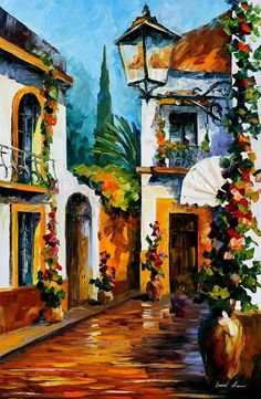 "The Sun Of July — PALETTE KNIFE Contemporary Fine Art Landscape Oil Painting On Canvas By Leonid Afremov - Size: 24"" x 36"" (60 cm x 90 cm)"