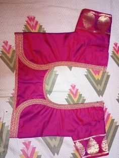 Patch Work Blouse Designs, Simple Blouse Designs, Saree Blouse Neck Designs, Saree Blouse Patterns, Designer Blouse Patterns, Sari Blouse, Kurta Designs, Blouse Models, Lace Design