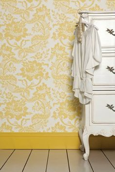 More babouche... love the painted skirting board