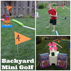 How to build a homemade mini golf course diy ideas pinterest diy backyard mini golf fandeluxe Images