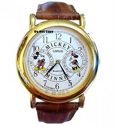 vintage watches: Lorus Mickey and minnie mouse  RM250