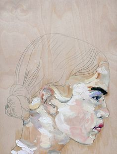 I will have a collection of art that I love. Study (prada2), 2011, oil on wood panel, by Judith Geher