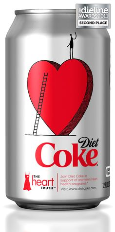 Coca-Cola cans - Heart Truth Promotional Campaign: awareness about women's risk of heart disease.