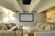 Interior, 9 Amazing Home Cinema Room Designs: Bright Modern Theater Room
